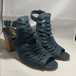 Sam Edelman Leather Peep Toe Heels